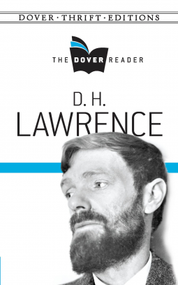 Photo of D.H. Lawrence, has beard, is looking to the side with sad persona.