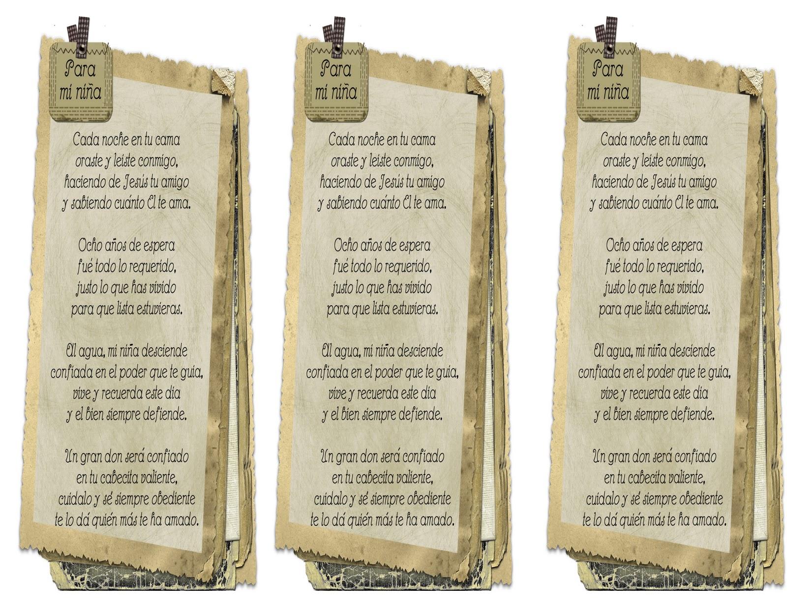 Poemas Para Invitaciones De Bautizo