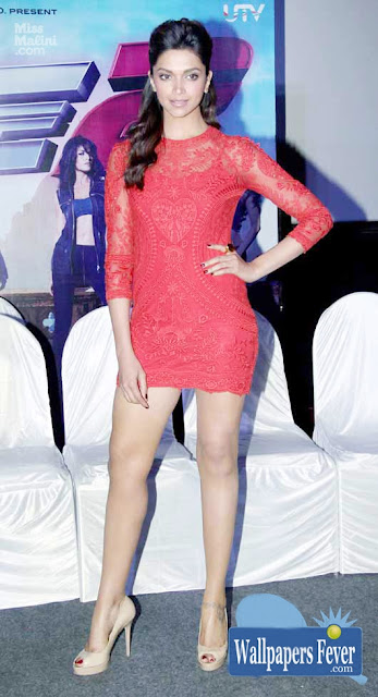Deepika Padukone Super Hot in Red