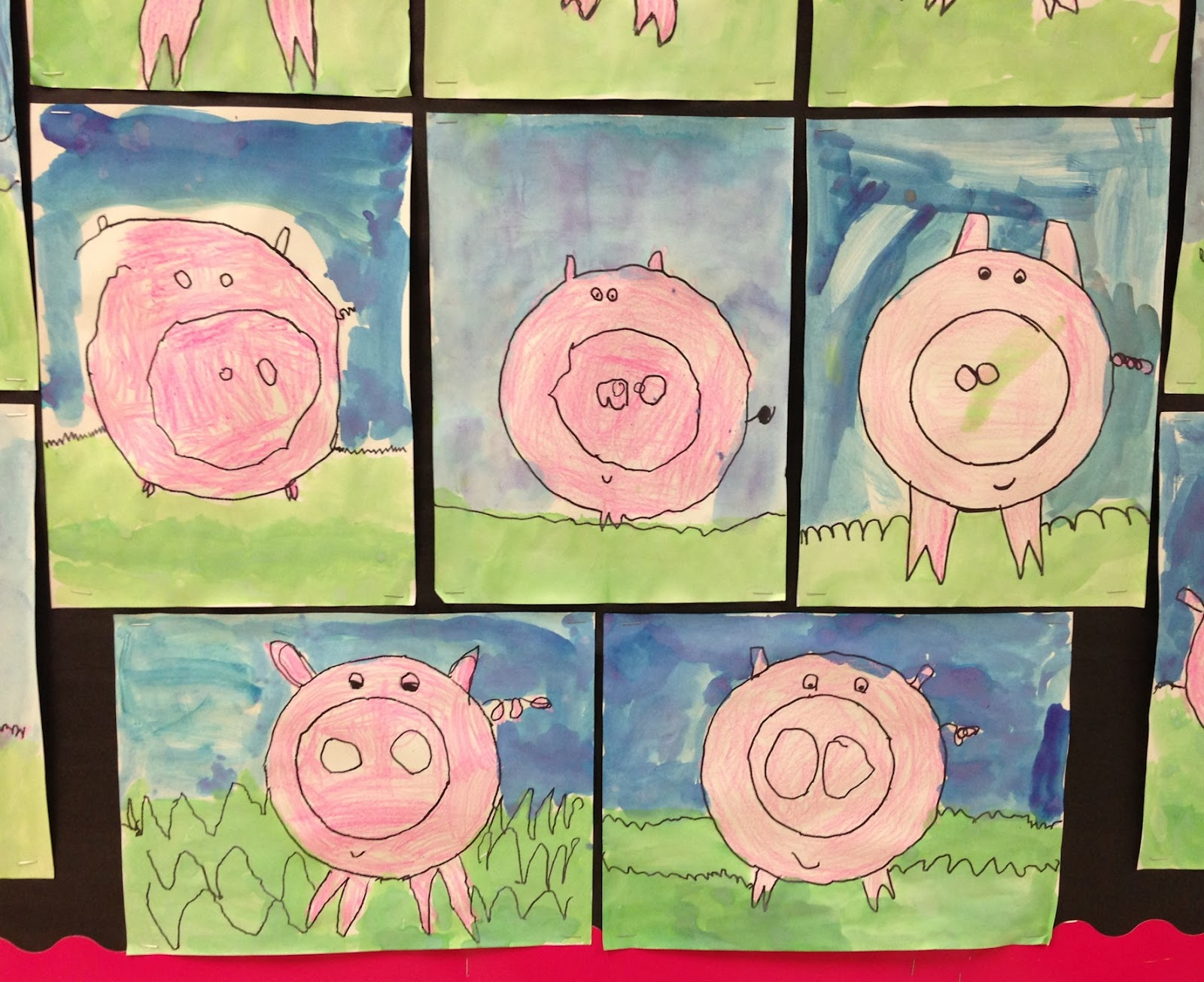 Classroom Theme Ideas Elementary ~ Apex elementary art this little piggy went wee