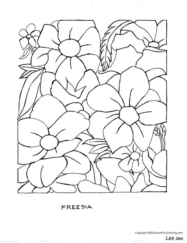 free advanced flower coloring pages - photo#23
