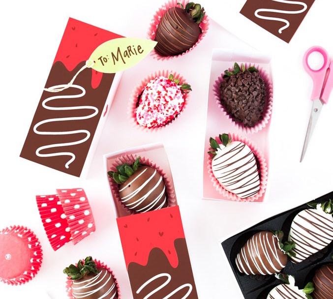 Diy cajas de regalo para San Valentín (imprimibles)