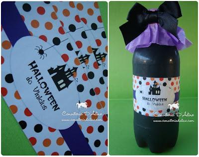 rótulo personalizado decoração halloween