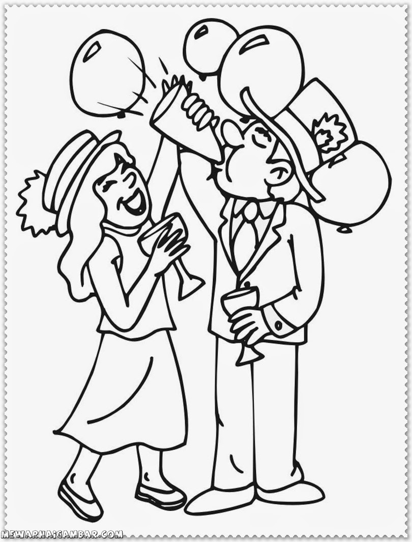 New Years Eve Coloring Pages New Years Eve Coloring Pages