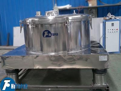 Máy quay ly tâm tách nước ngành thực phẩm
