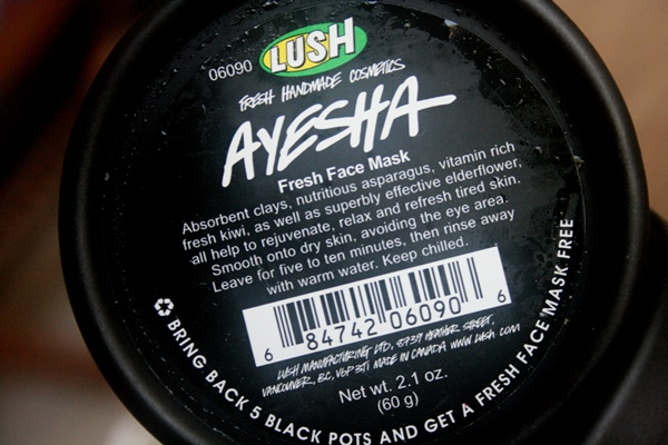 LUSH Ayesha Fresh Face Mask Reviews Blog