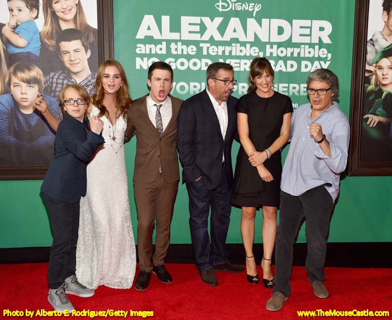 The cast of Alexander and the Terrible, Horrible, No Good, Very Bad Day