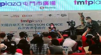 Greyson Chance at the tmtplaza Mall in Hong Kong April 2012