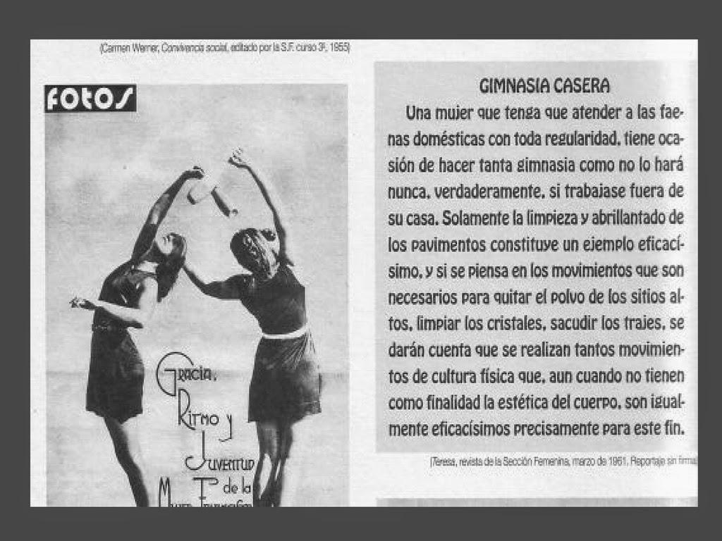 Mem ria repressi franquista mujeres y falange - Como hacer gimnasia en casa ...