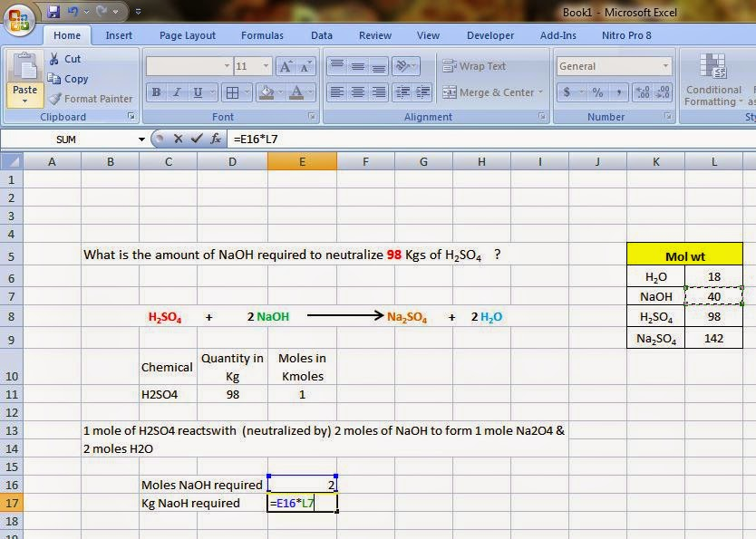 Chemineering.blogspot.com Excel tutorial