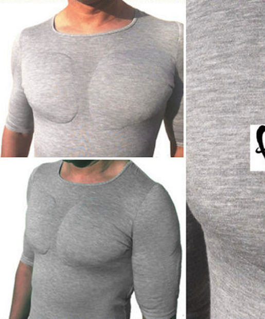 The garment was initially meant to accentuate the pectorals, shoulders, biceps, and triceps of men who wish to look more muscular, like a padded bra for bein' buff; however, the mad geniuses.