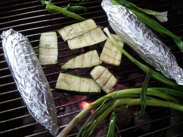 Running on Lentils: Grilled Zucchini and Scallions with ...