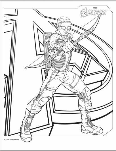 avengers hawkeye coloring page - Black Widow Marvel Coloring Pages