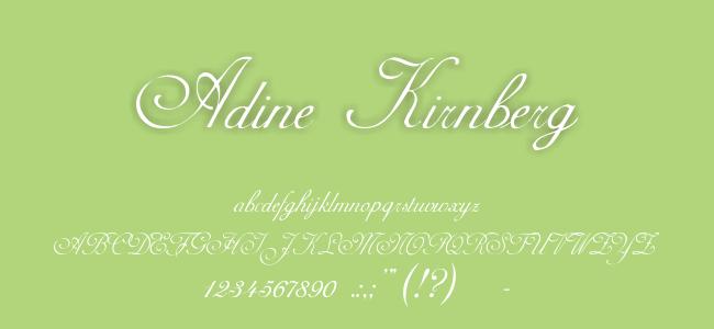 Kumpulan Font Undangan - Adine Kirnberg