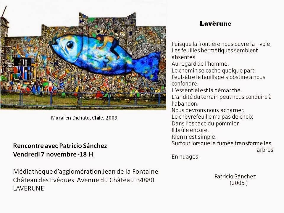 Médiathèque Jean de la Fontaine - Lavèrune - le 7 Novembre 2014 - Rencontre avec Patricio Sanchez