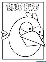 Mewarnai Gambar Angry Birds Blue Birds