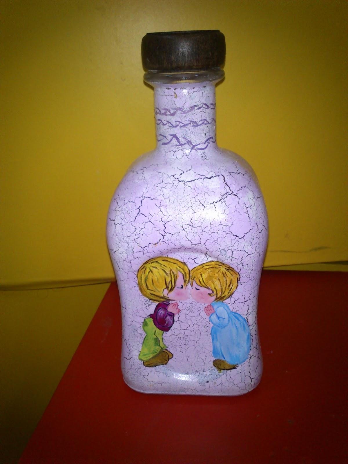 Botella blog de manualidades - Pintar botellas de plastico ...