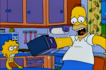Simpsons toaster homer time machine
