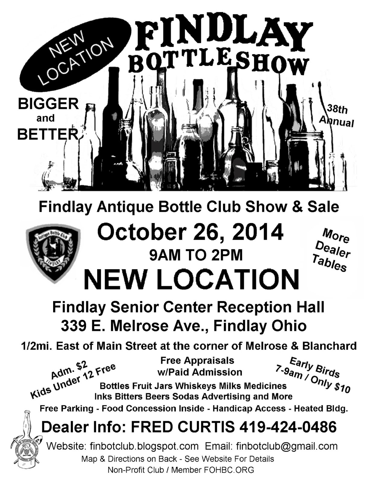 2014 Findlay Bottle Show ~ NEW LOCATION