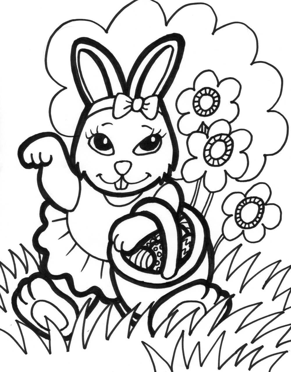 easter coloring pages easter bunny - photo#18