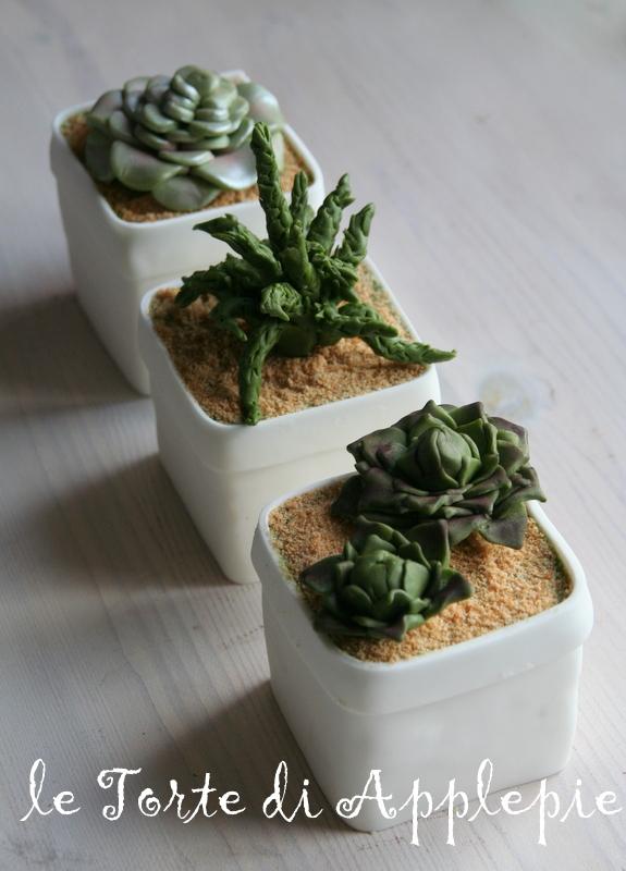 le torte di Applepie: Minicakes con piante grasse su Cucina Chic ...