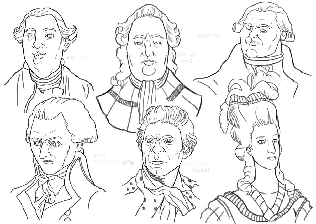 Maximilien Robespierre Drawing Maximilien de Robespierre