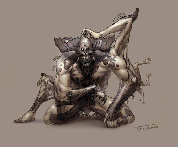 Timo Mimus crackbag deviantart ilustrações fantasia arte conceitual Mutante
