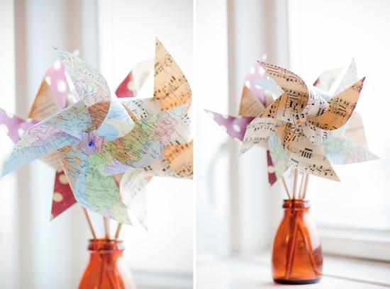 molinos de viento de papel originales