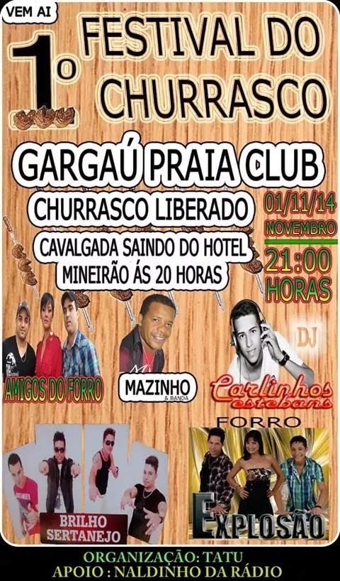 1º FESTIVAL DO CHURRASCO NO GARGAÚ PRAIA CLUB