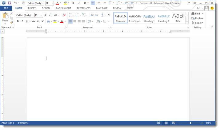 concepto de microsoft word: