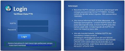 Lihat dan Cek Hasil Verifikasi Data PTK di P2TK Dikdas