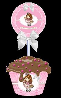 Kit anivers rio jolie cone para guloseimas convites para - Jolie cupcake ...