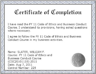 Code of ethics and business conduct training