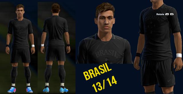 Brazil Black Kit 2013 - PES 2013