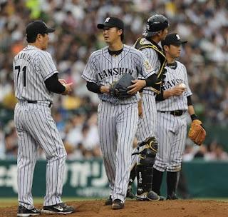 3回、マウンドを降りる先発の阪神・横山=西武プリンスドーム(撮影・安部光翁)(写真:サンケイスポーツ)