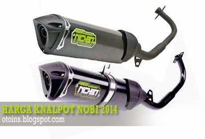 Rincian Harga Knalpot Motor Nobi Racing Terbaru 2014