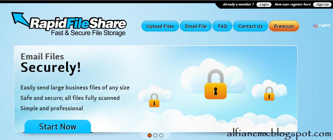 Cara Download di RapidFileShare.net