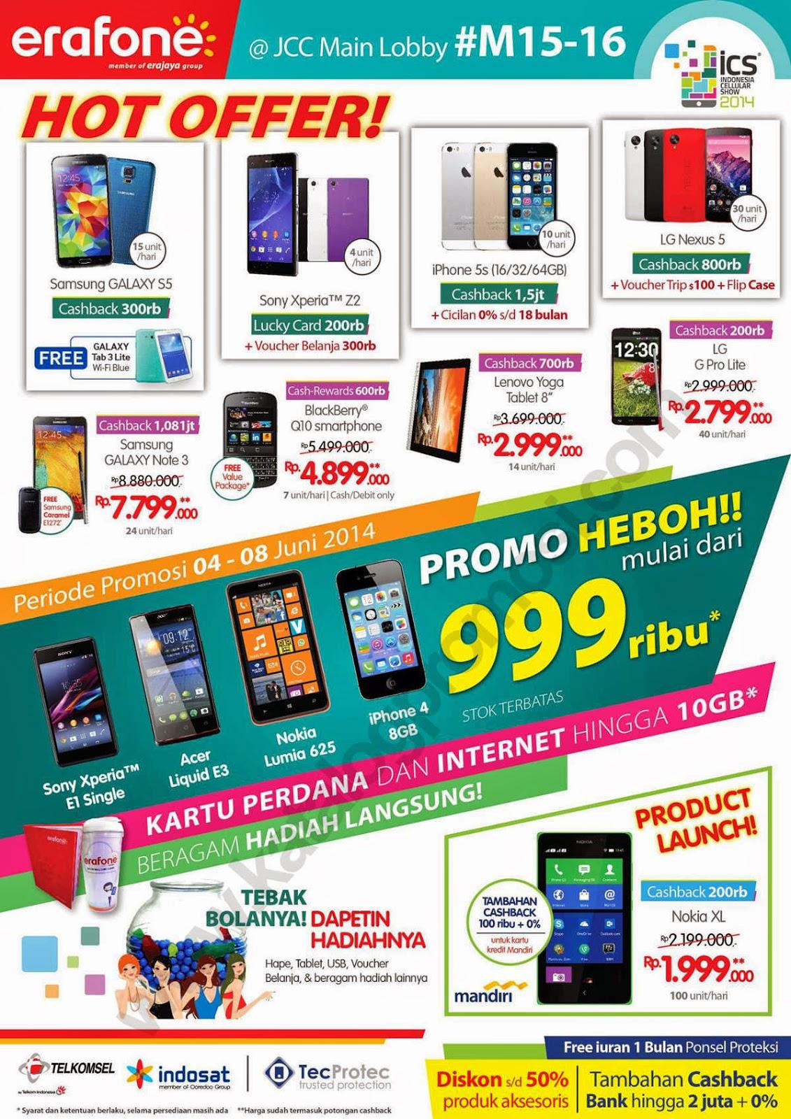 Daftar Promo Erafone di ICS 2014