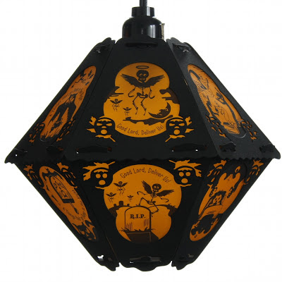 Vintage-style lantern by Bindlegrim features verse and imagery of The Cornish Litany