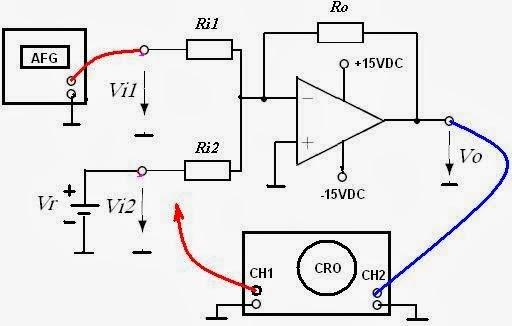 elektronika analog  operational amplifier percobaan 9