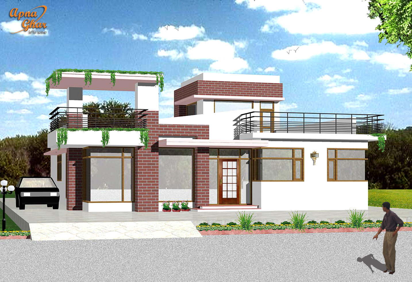Front elevation view joy studio design gallery best design for Front view house plans