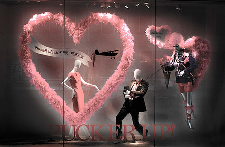 valentine window displays