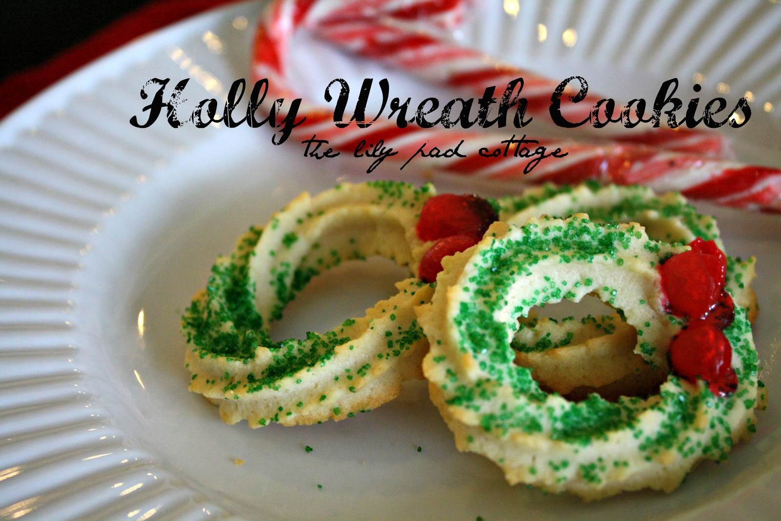 Holly Wreath Cookies The Lilypad Cottage