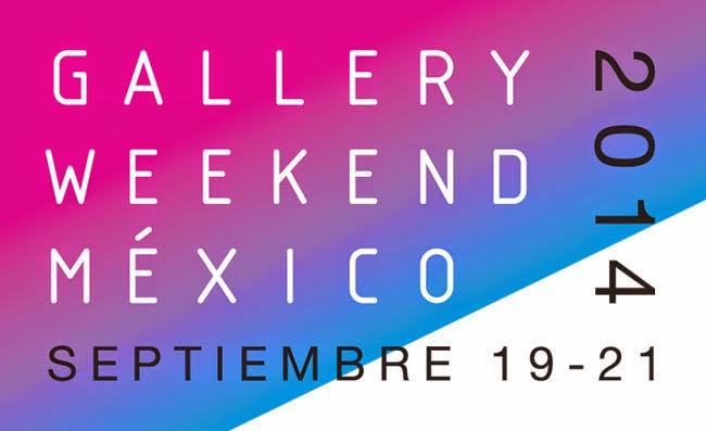 Exposiciones participantes en la Gallery Weekend México 2014
