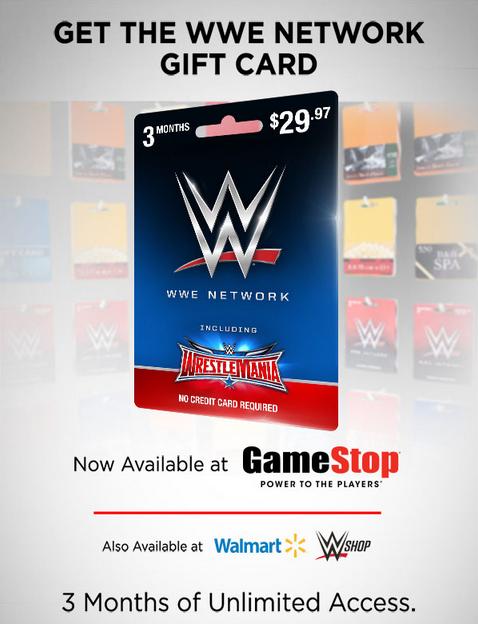 South Atlanta Wrestling: WWE Network Gift Cards: Now at GameStop