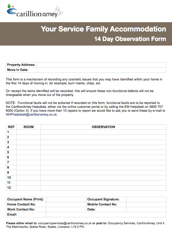 WIMBISH HIVE : 14 Day Observation Form