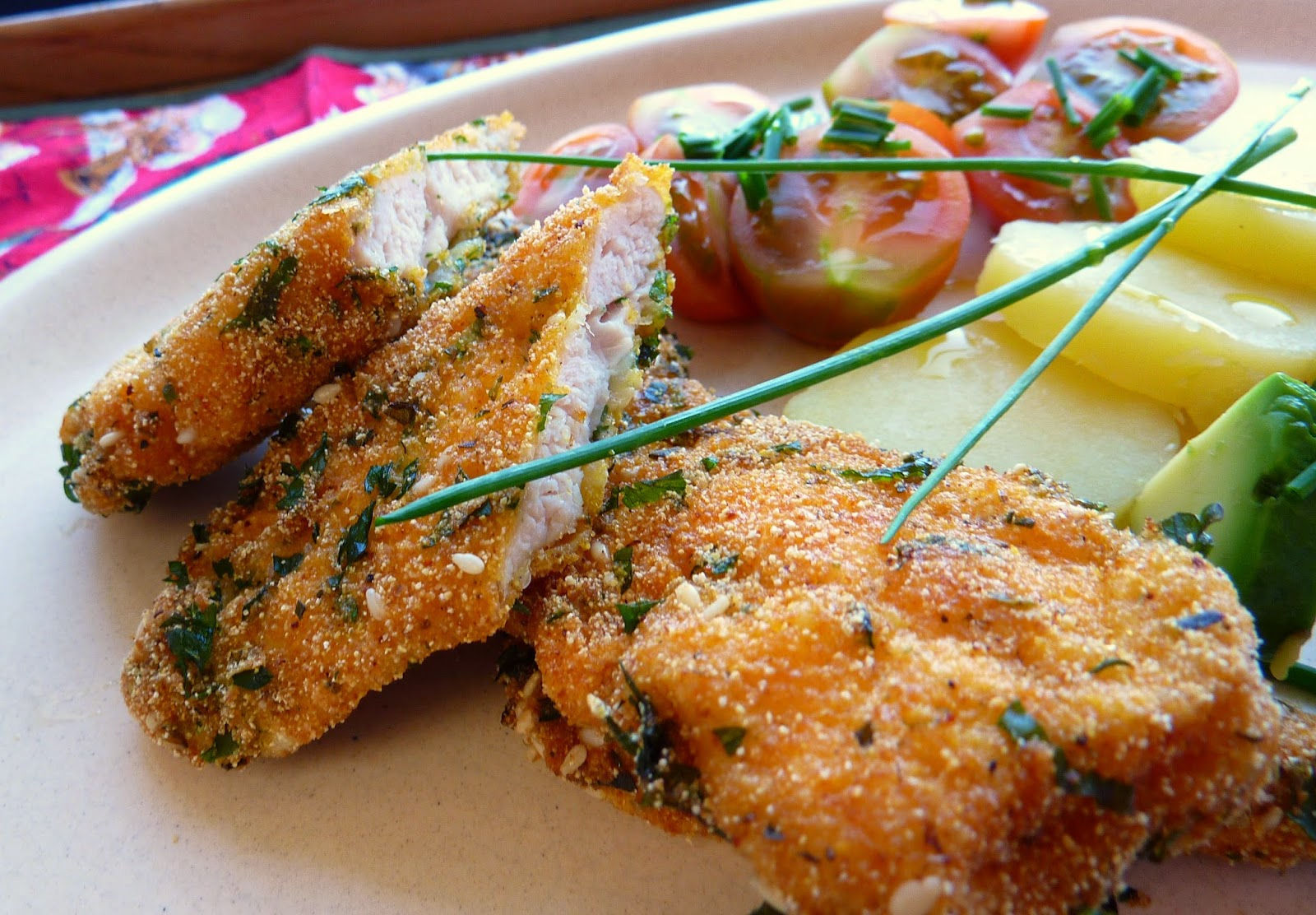 Pollo apanado sin pan, gluten ni lácteos