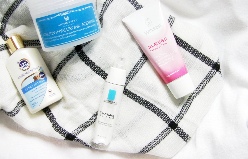 new skincare additions trial review beauty blog la roche posay toleriane ultra sunsense annie's way hyaluronic acid weleda almond cleansing lotion