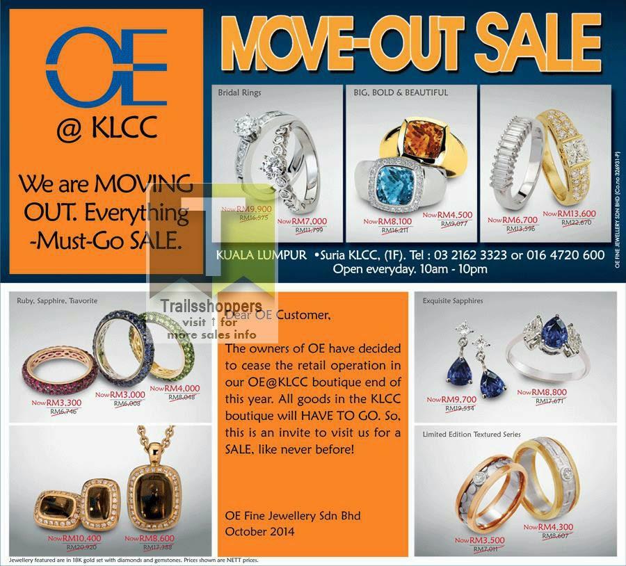 OE Fine Jewellery Moving Out Sale offers kuala lumpur