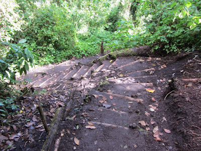 Steps leading the way up Volcan San Pedro in Guatemala by Lake Atitlan